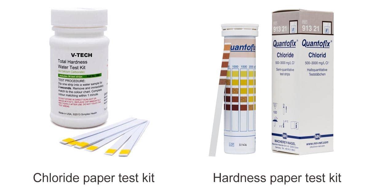 ตรวจสอบค่า hardness และ chloride ของน้ำ